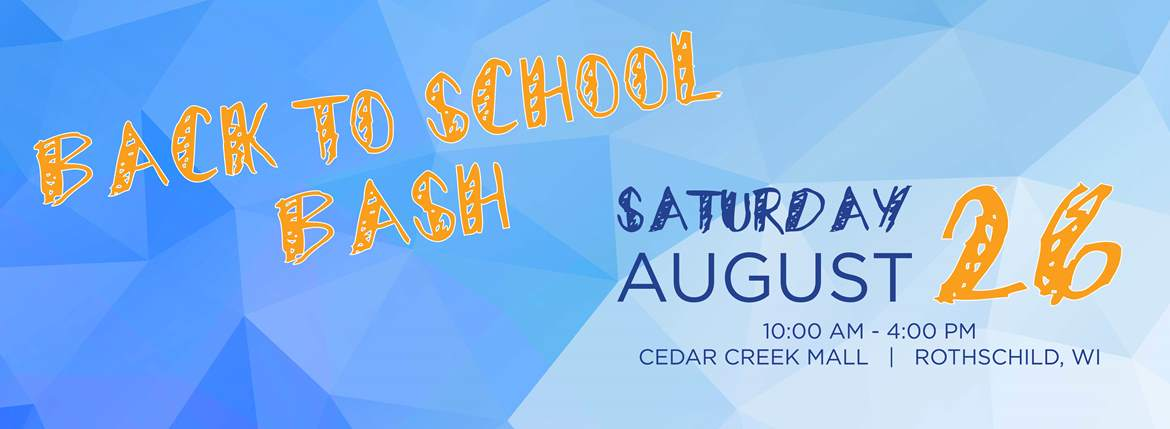back to school bash cedar creek mall