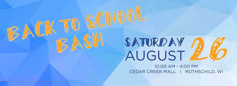 back to school bash cedar creek mall